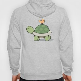 Kawaii Cute Tortoise And Bird Hoody
