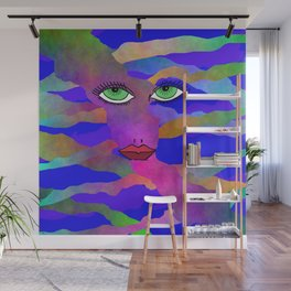 Eyes and Lips Colorful Wall Mural