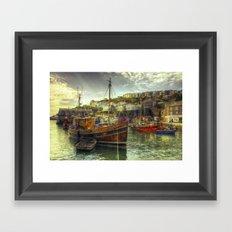 Mevagissy Trawler Framed Art Print