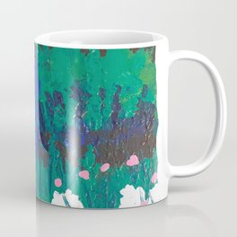 Blue Door In The Garden Coffee Mug