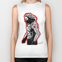 the winter soldier Biker Tanks featuring Winter Soldier by Lydia Joy Palmer
