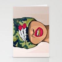 mcfreshcreates Stationery Cards featuring Goldie the Brave by McfreshCreates