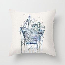Dry Dock I Throw Pillow