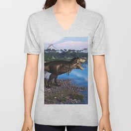 Tyrannosaurus 2 Unisex V-Neck