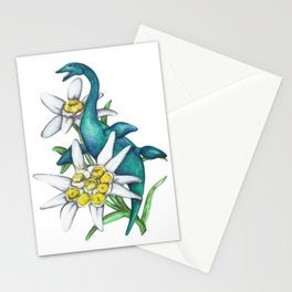 E is for Elasmosaur and Edelweiss Stationery Cards
