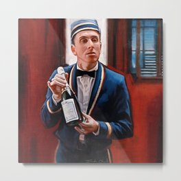 Champagne? - Tim Roth And Four Rooms Metal Print
