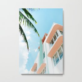 Miami Fresh Summer Day Metal Print