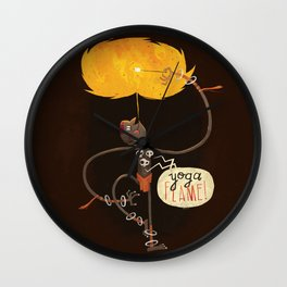 Yoga Flame Wall Clock