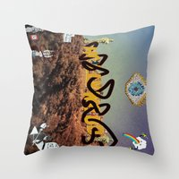 hollywood Throw Pillows featuring hollywood  by Edouard Campos