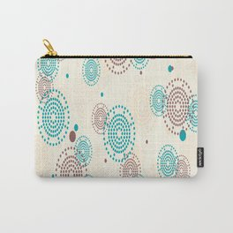 small circle blue brown Carry-All Pouch
