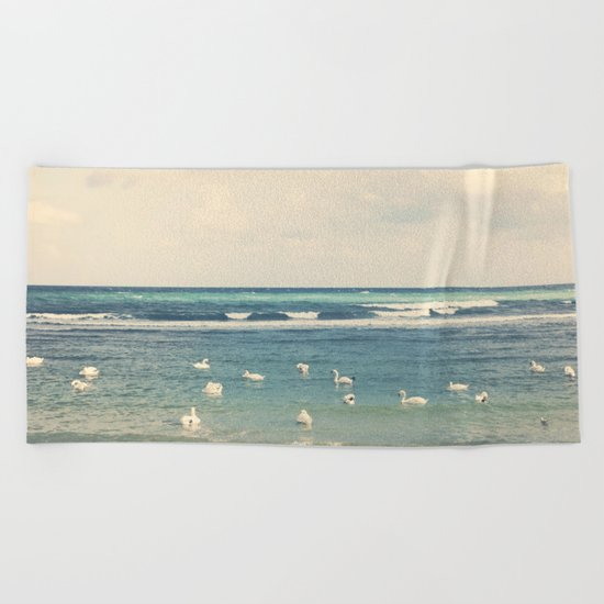 Swan Sea Beach Towel