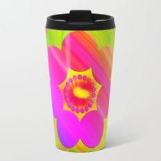 Mandala Pink Daisy Travel Mug