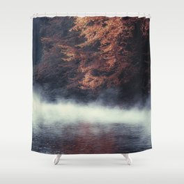 Nature's Mirror - Fall on the River Shower Curtain