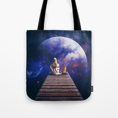 Company on the pier Tote Bag