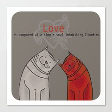 LOVE is a single soul in two bodies Canvas Print
