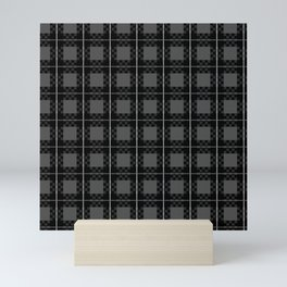 90s Dark Plaid Mini Art Print