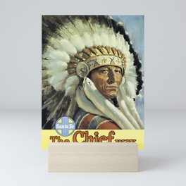 Vintage American Travel Poster - SANTA FE, THE CHIEF WAY Mini Art Print