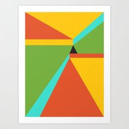 Poligonal 247 Art Print