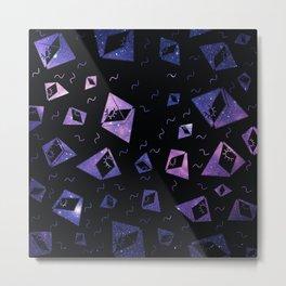 space piramides pattern Metal Print