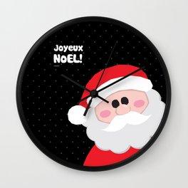 Joyeux Noel - Santa Wall Clock