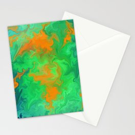 Marble No6, Water Flowers Stationery Cards