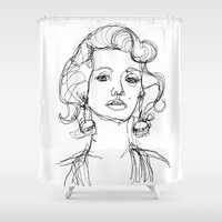 monroe Shower Curtains featuring Monroe by Noelle Rousseau