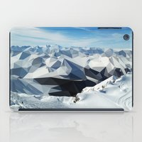 low poly iPad Cases featuring low poly mountains by tony tudor