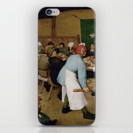 Peasant Wedding by Pieter Bruegel the Elder iPhone Skin