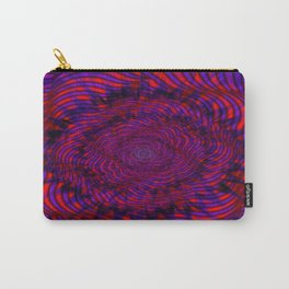 Hypnotica #1 Vibrant Psychedelic Illusion Carry-All Pouch