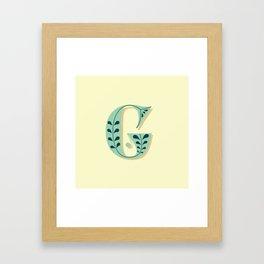 Alphabet Drop Caps Series- G Framed Art Print