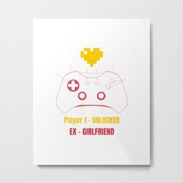 Printed items of Ironic gamer Joke Metal Print