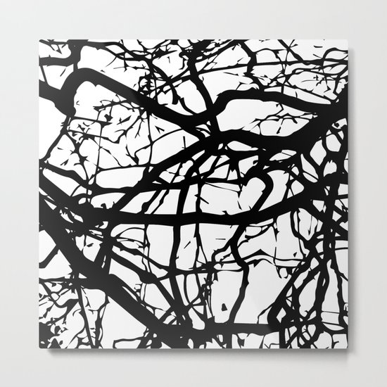 black branches Metal Print