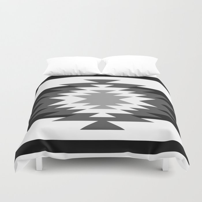 Aztec Black And White Duvet Cover By Aztec Society6
