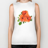 poppies Biker Tanks featuring Poppies by Heaven7