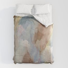 Earth Color Watercolor Abstract Comforters