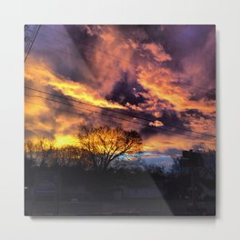 Fire Skies Metal Print