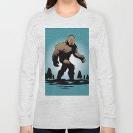 Bigfoot Silhouette Illustration. Long Sleeve T-shirt