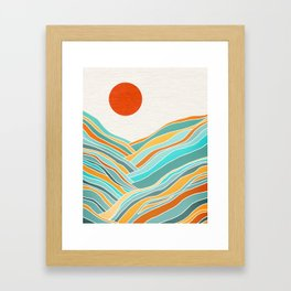 Sunset Landscape Framed Art Print