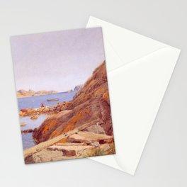 Hans Gude Painting -  Landskap Ved Stavern 1884  | Reproduction | Norwegian Art Stationery Cards