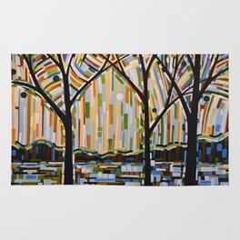 Abstract Art Landscape Original Painting ... Enchanted Nights Rug