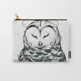 Poetic Snow Owl Carry-All Pouch