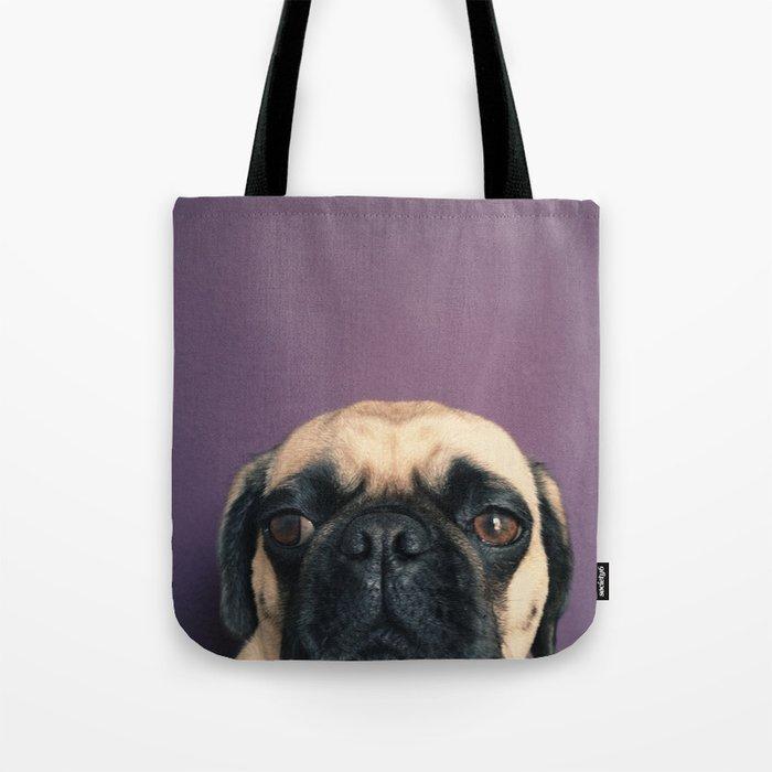Lurking Pug Tote Bag