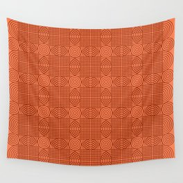 Op Art 18 - Coral Wall Tapestry