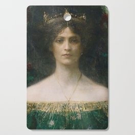 Lady Mourning Cutting Board