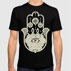 Hamsa Black Mens Fitted Tee MEDIUM