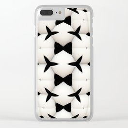 Black and White Pattern Clear iPhone Case