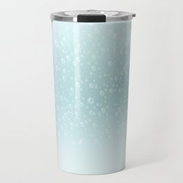 An illustration of the water bubbles background.  Travel Mug
