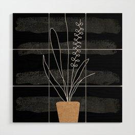 Scandi Plant 2 Wood Wall Art