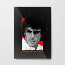 Formula One - Fernando Alonso Metal Print