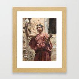 Emile Friant SPINNER FROM EL KANTARA Framed Art Print